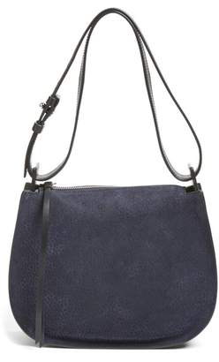 AllSaints Mini Echo Calfskin Suede & Leather Hobo