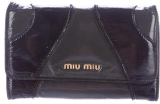 Miu MiuMiu Miu Bicolor Patent Leather Wallet