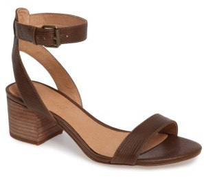 Women's Madewell Alice Embossed Ankle Wrap Sandal