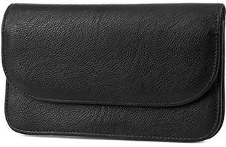 Mundi Womens Slim Flap Envelope Leather Clutch RFID Blocking Wallet With Safe Keeper Technology