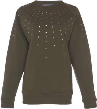 Alberta Ferretti Plush Studded Sweatshirt