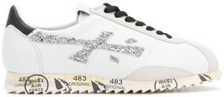 Premiata glitter panel detail sneakers