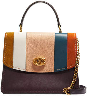 Parker Coach 1941 Patchwork Stripe Top-Handle Satchel Bag