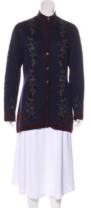 Ungaro Intarsia Knit Cardigan