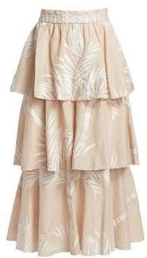 Johanna Ortiz Tremendously Wild Ruffle Skirt