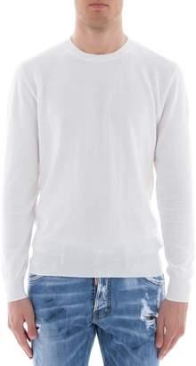 Paolo Pecora White Cotton Sweatshirt