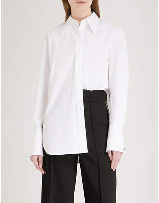 Mo&Co. Oversized stretch-cotton shirt