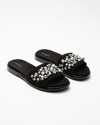 Express Pearl Stone Slide Sandals