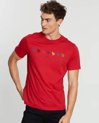 Paul Smith SS Regular Fit Zebra T-Shirt