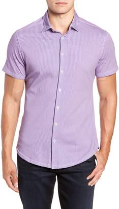 Stone Rose Regular Fit Geometric Print Knit Sport Shirt
