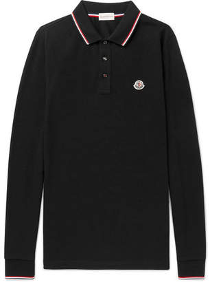 Moncler Contrast-Tipped Cotton-Piqué Polo Shirt