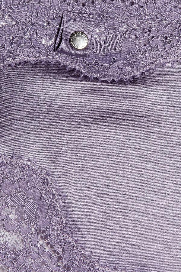 Stella McCartney Clara Whispering stretch-silk satin and lace briefs