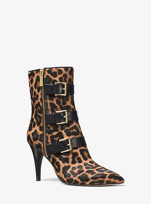 84333de4f2a2 Michael Kors Lori Leopard Calf Hair Mid-Calf Boot