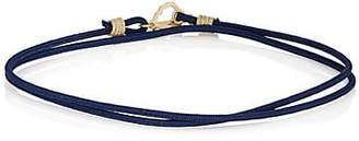 Luis Morais Men's Double-Wrap Cord Bracelet - Navy