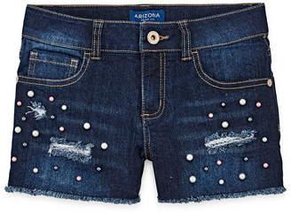 Arizona Fashion Denim Shortie Shorts Girls 4-16 and Plus