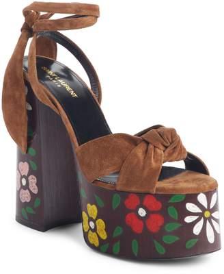 Saint Laurent Paige Floral Platform Sandal