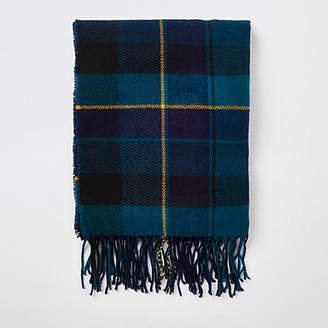 River Island Green check print scarf