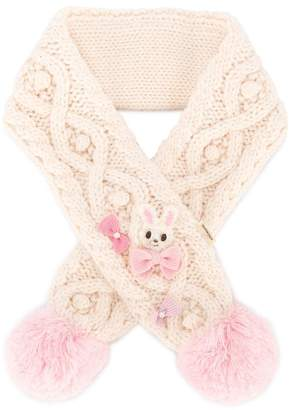 Mikihouse Miki House cable knitted scarf