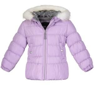 Weathertamer Little Girls Fur-Lined Puffer Jacket