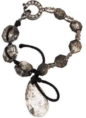 Lanvin Antiqued Crystal Cord Bracelet