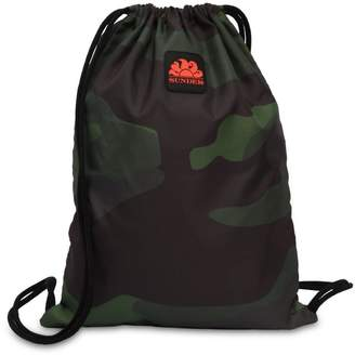 Sundek Camo Logo Patch Drawstring Backpack