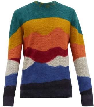 Missoni Abstract Stripe Chevron Alpaca Sweater - Mens - Multi