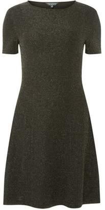 Dorothy Perkins Womens **Tall Silver Glitter 'Mariah' Dress