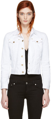 Dsquared2 White Cropped Denim Jacket $580 thestylecure.com
