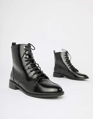 London Rebel Clean Hiker Boots