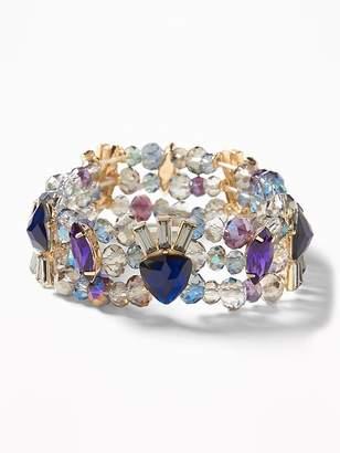 Old Navy Crystal-Stone Stretch Bracelet for Women