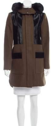 Zac Posen Hooded Fur Coat w/ Tags