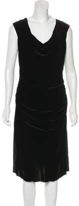 Mantu Velvet Midi Dress