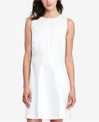 Lauren Ralph Lauren Denim Fit & Flare Dress $130 thestylecure.com