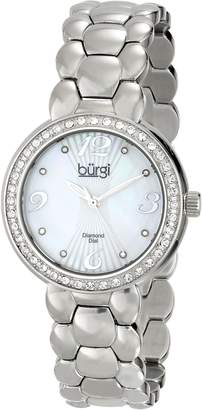 Burgi Women's BUR084SS Analog Display Swiss Quartz Silver Watch