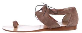 Vicini Suede Lace-Up Sandals
