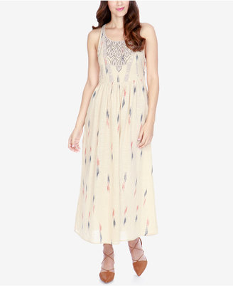Lucky Brand Embroidered Maxi Cotton Dress $139 thestylecure.com