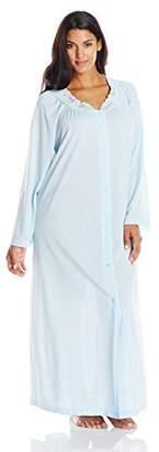 Shadowline Women's Plus-Size Petals 54 Inch Long Sleeve Long Coat