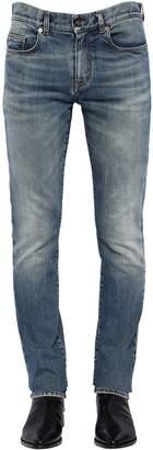 Saint Laurent 16cm Skinny Low Rise Denim Jeans