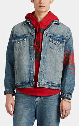 424 Men's Cotton Denim Boxy Trucker Jacket - Blue