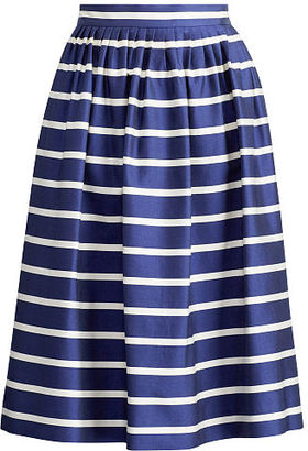 Polo Ralph Lauren Striped A-Line Skirt $298 thestylecure.com