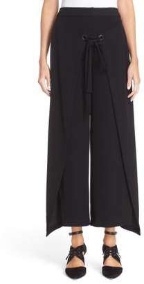 Yigal Azrouel 'Giorgio' Wrap Front Wide Leg Pants