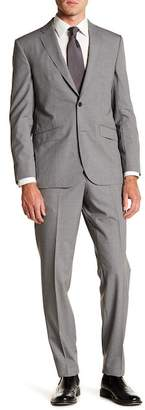 Ted Baker Micro Stripe Two Button Notch Lapel Wool Suit
