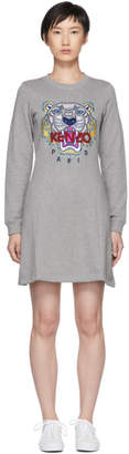 Kenzo Grey Tiger Flare Dress