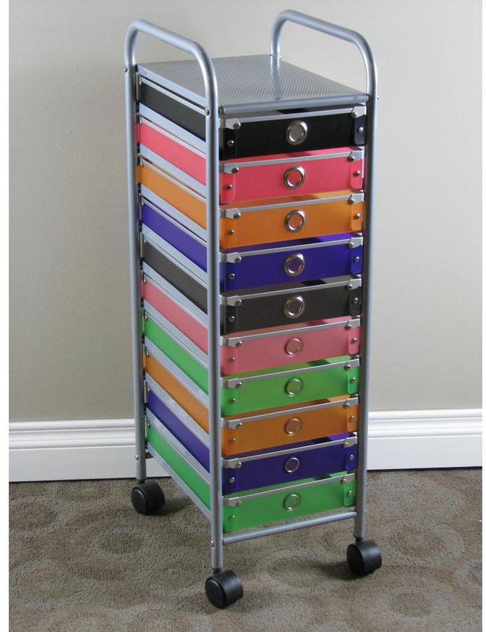 4D Concepts Black, Pink, Orange, Purple, Green and Silver Cabinet