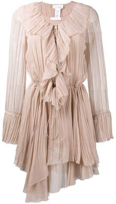 Chloé frilled asymmetric dress