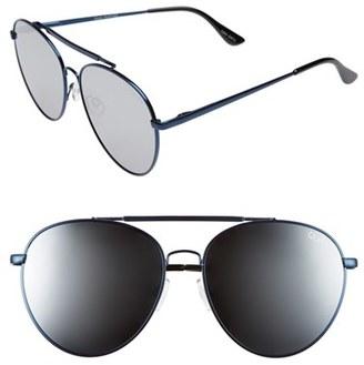 Women's Quay Australia Lickety Split 62Mm Aviator Sunglasses - Blue/ Silver Mirror $55 thestylecure.com