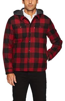 Levi's Men's Buffalo Plaid Two Pocket Hooded Shirt Jacket
