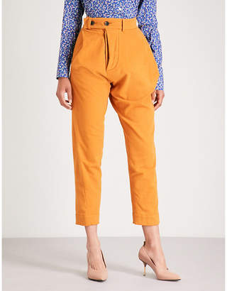 Vivienne Westwood Alcoholic straight high-rise velvet trousers