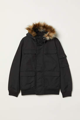 H&M Short Hooded Jacket - Black