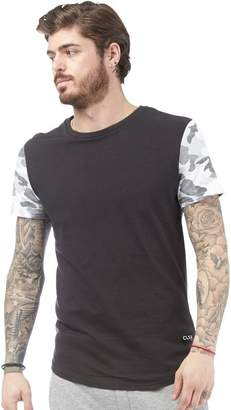 Closure London Mens Camo Sleeve T-Shirt Black/Grey Camo